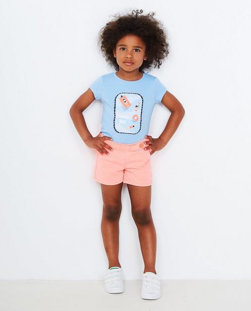 T-shirt met glitterprint - in lavendelblauw - JBC