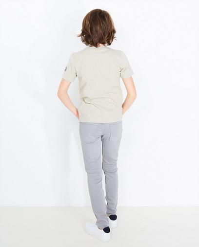 Sandfarbenes Swipe-T-Shirt