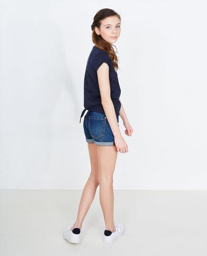 Short en jeans bleu foncé