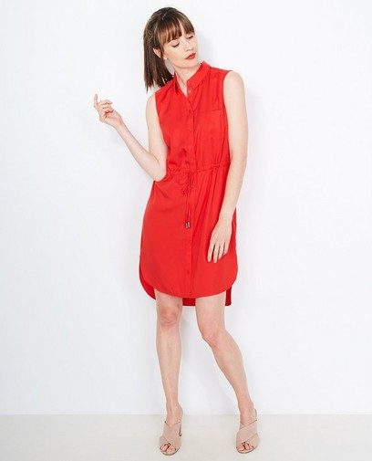 Robe chemisier rouge