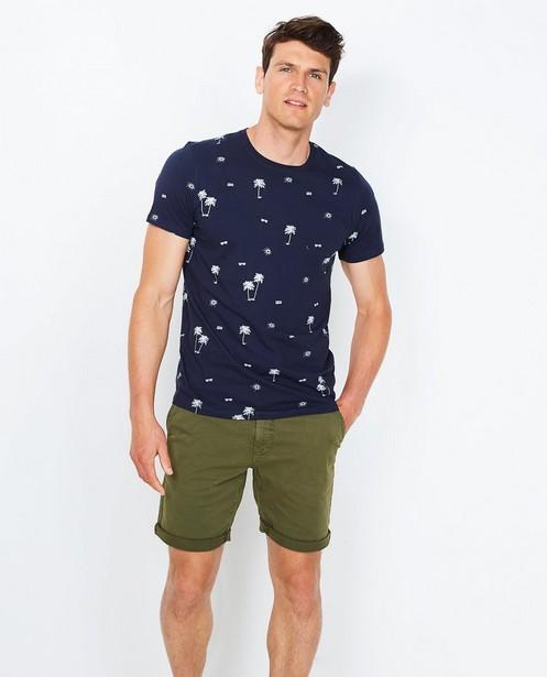 T-shirt met zomerprint - in nachtblauw - JBC