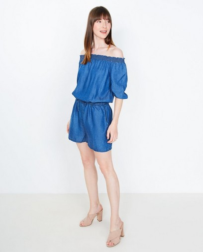 Off-shoulder playsuit