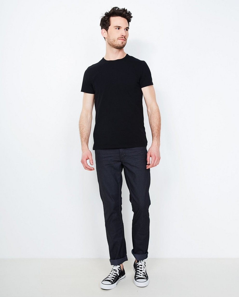 Jeans - black - Fitted straight jeans