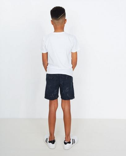 Short met bladerprint