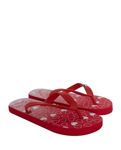 Tongs rouges taille 33-36