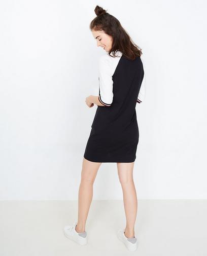 Zwart-witte jurk