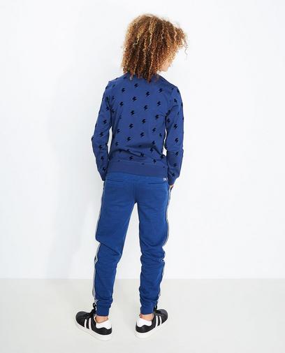 Blauwe sweatbroek