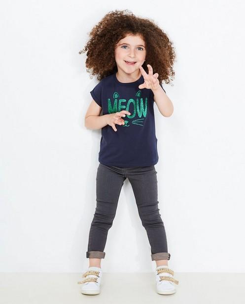 Slim fit jeans JILL, 2-7 jaar - lichte wassing - JBC