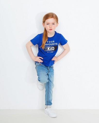 Blauw swipe T-shirt