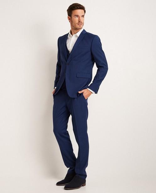 Blauwe kostuumbroek - gekleed - JBC