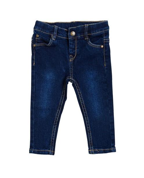 Donkerblauwe jeans - met lichte wassing - JBC