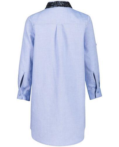 Robe-chemisier bleu clair