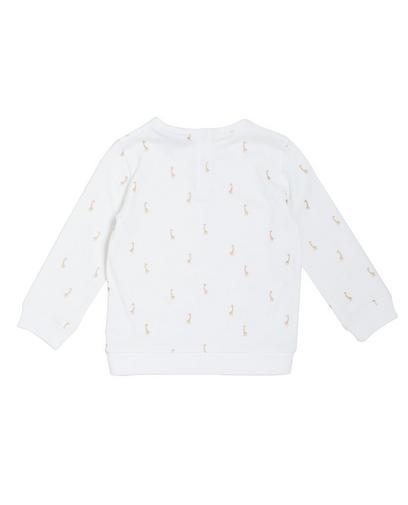 Sweatshirt mit Glitzerprint