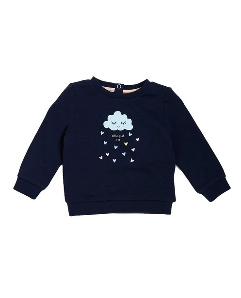 Nachtblauwe sweater - met wolkjesprint - JBC