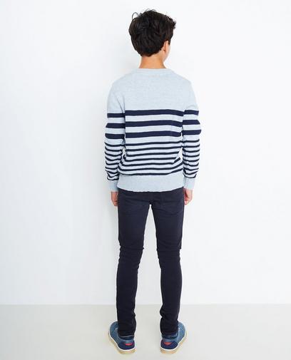 IJsblauwe trui