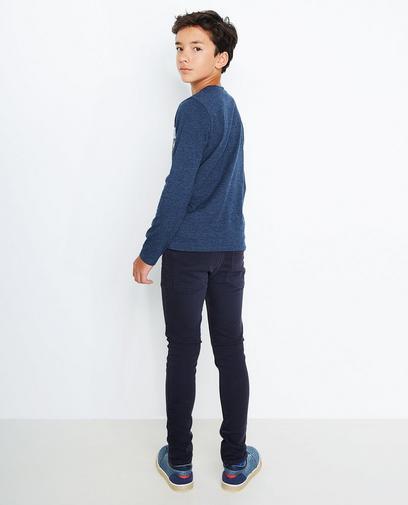 Donkerblauwe longsleeve