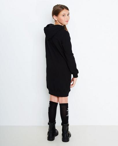 Robe molletonnée noire
