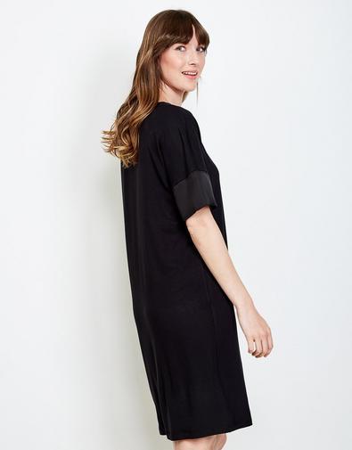 Robe noire en viscose
