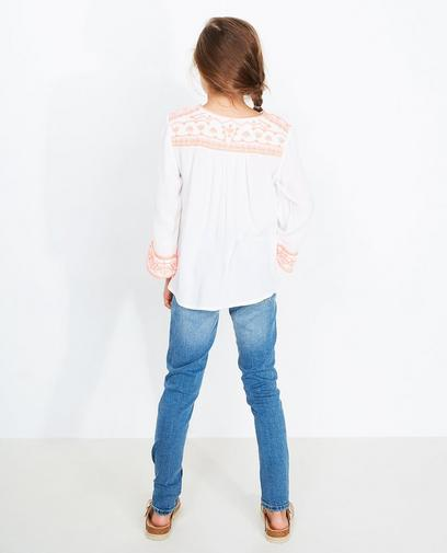 Roomwitte blouse