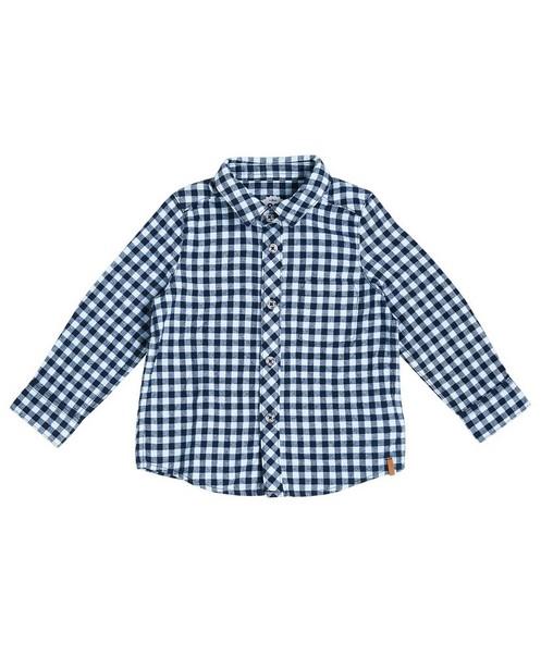 Geruit hemd - in licht- en donkerblauw - JBC