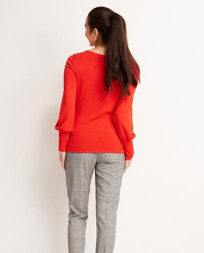 Feuerroter Pullover