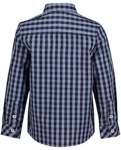 Chemise bleue à carreaux