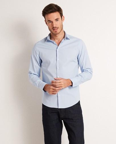 Lichtblauw basic hemd