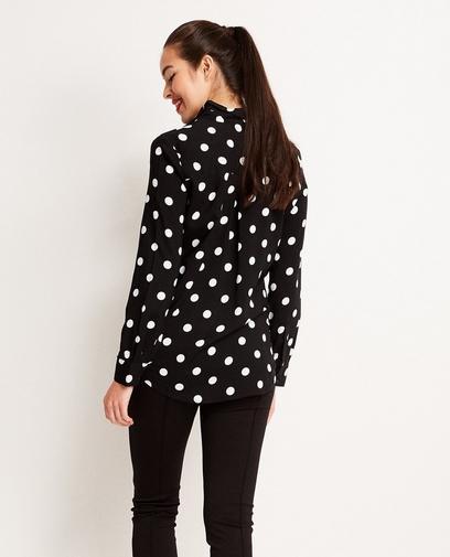 Zwart viscose hemd