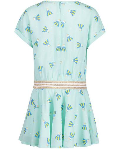 Mintgroene jurk