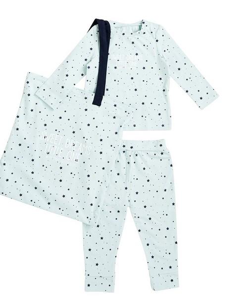 Set van pyjama en tas - in mintgroen - JBC