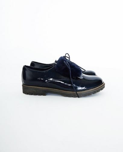 Nachtblauwe laqué schoenen