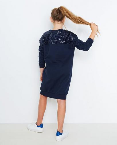 Nachtblauwe sweatjurk