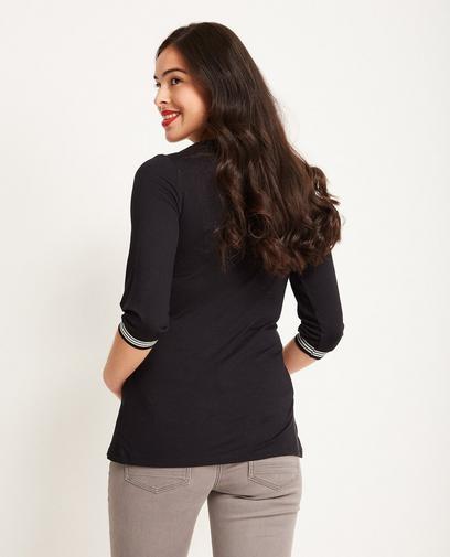 Zwarte viscose blouse
