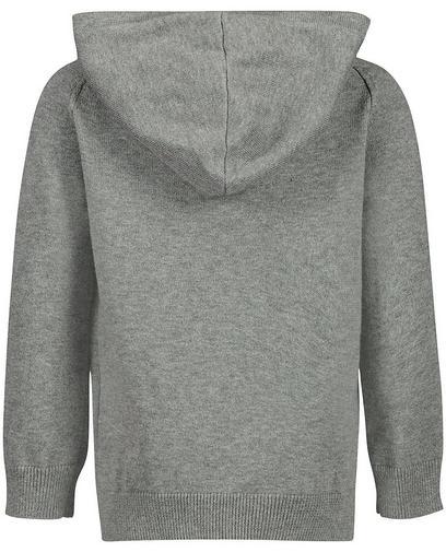 Grijze fijngebreide trui