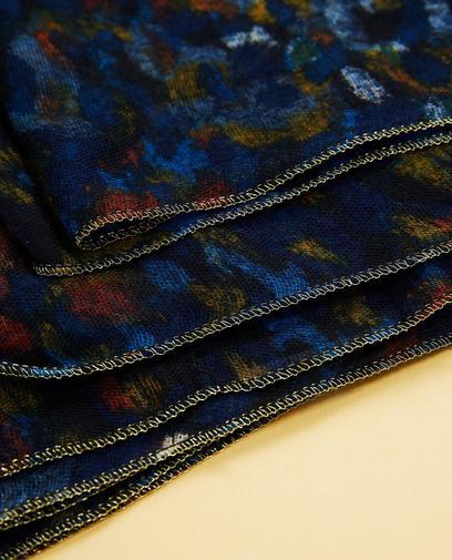 Écharpe bleu nuit
