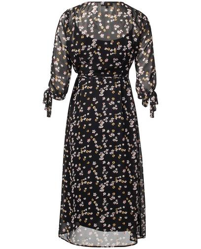 Zwarte maxi-jurk