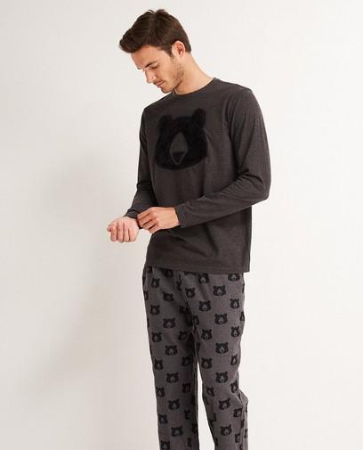 Donkergrijze pyjama