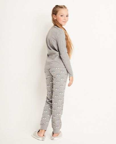 Grijze pyjama 7-14