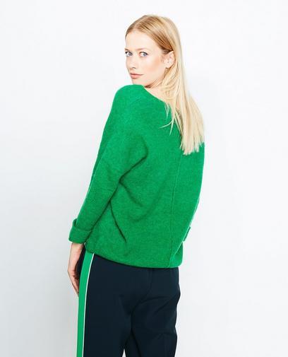 Pull vert en tricot