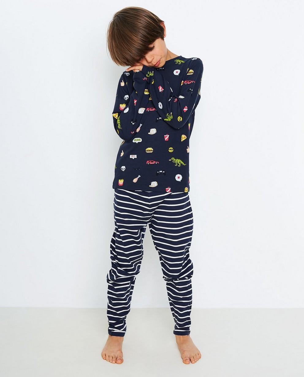 Nachtblauwe pyjama - met leuke print - JBC