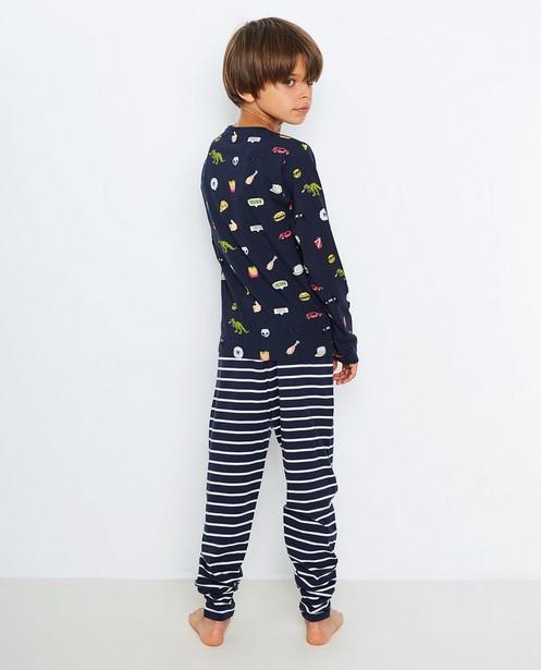 Nachtkleding - Nachtblauwe pyjama