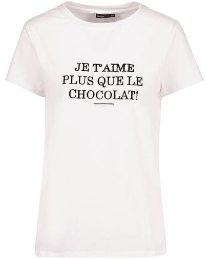 T-shirt met Frans opschrift