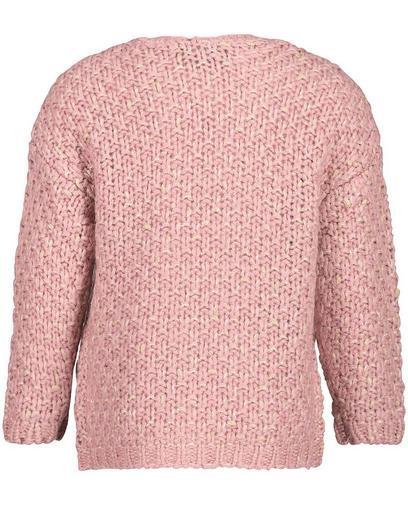 Roze gebreid vest