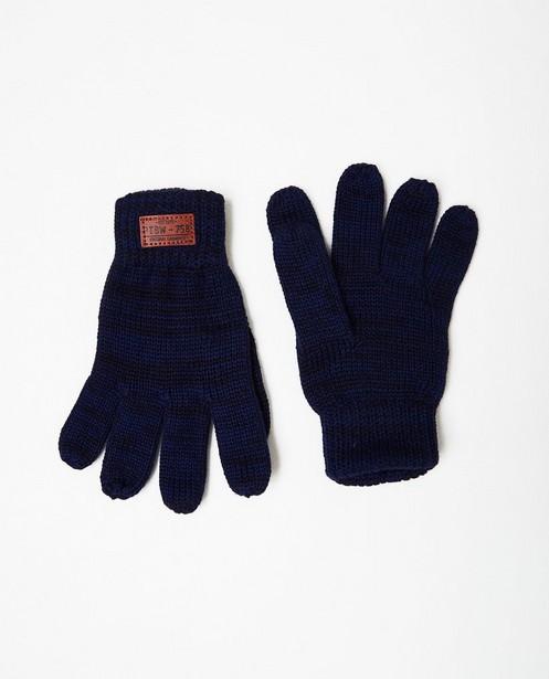 Gants en fin tricot - bleu foncé - JBC