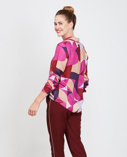 Kleurrijk viscose hemd