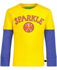 T-shirts - Geel-blauwe longsleeve