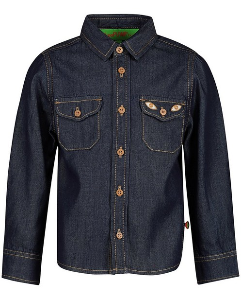 Hemden - BLD - Donkerblauw jeanshemd