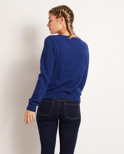 Koningsblauwe trui