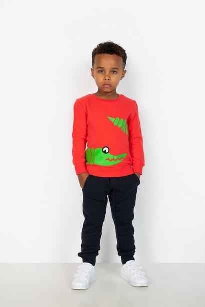 Lichtrode sweater - met dierenprint, ZulupaPUWA - Zulu Papuwa