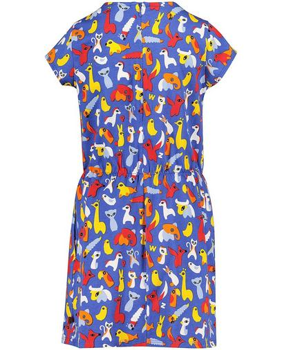 Lavendelblauwe jurk